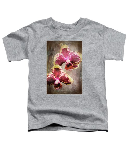 Purple And Yellow Orchid 3723-3735 Art Toddler T-Shirt