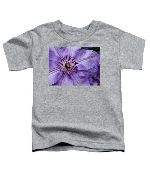 Purple Clematis Blossom Toddler T-Shirt