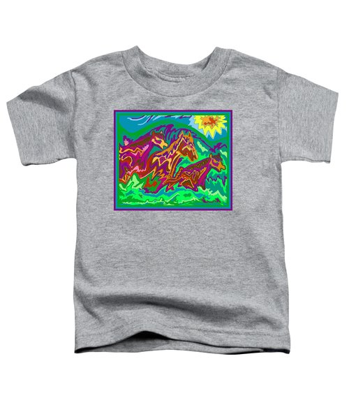 Purple Feathered Horses Toddler T-Shirt
