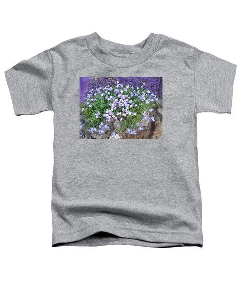 Purple Flower Textured Photo 1028b Toddler T-Shirt