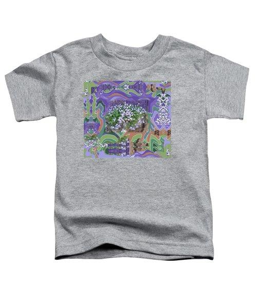 Purple Flower Textured Photo 1028d Toddler T-Shirt