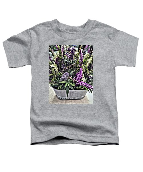 Purple Flowers In Bloom Toddler T-Shirt