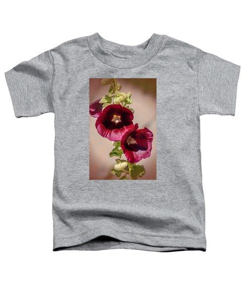 Purple Hollyhock Duo Toddler T-Shirt