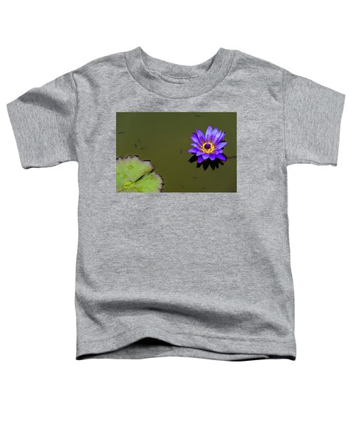 Purple Lily With Tiny Fish Toddler T-Shirt