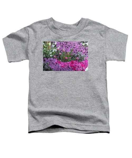 Purple Roses, Pinks And White Toddler T-Shirt