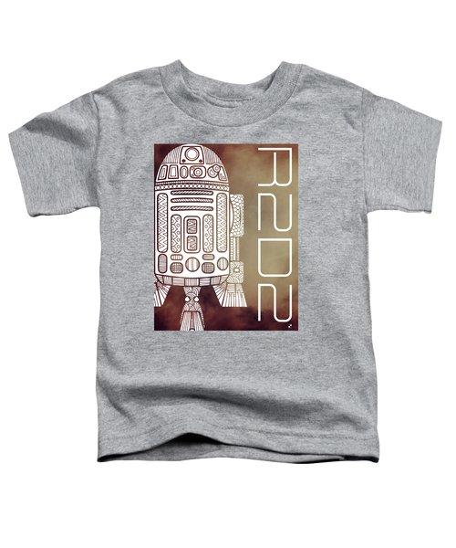 R2d2 - Star Wars Art - Brown Toddler T-Shirt