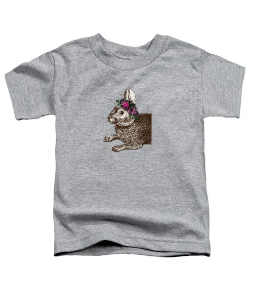 Rabbit And Roses Toddler T-Shirt by Eclectic at HeART