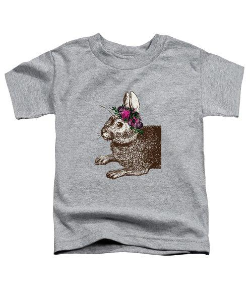 Rabbit And Roses Toddler T-Shirt