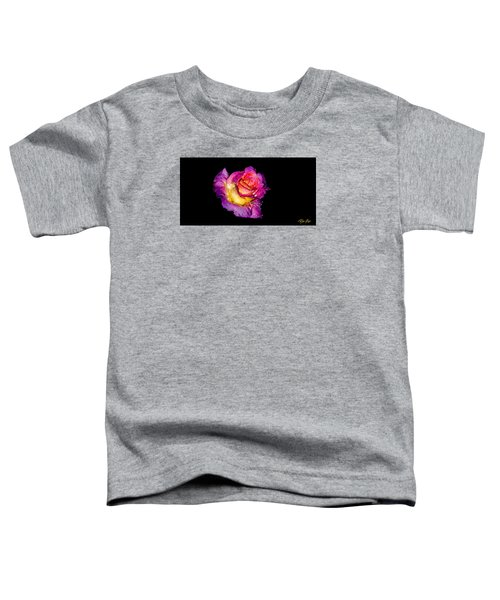 Toddler T-Shirt featuring the photograph Rain-melted Rose by Rikk Flohr