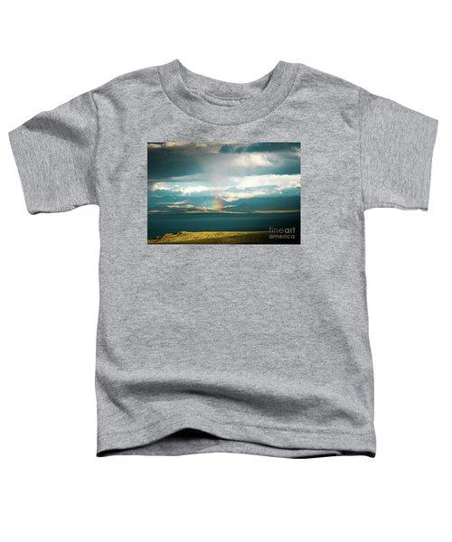 Rainbow Above Lake Manasarovar Kailash Yantra.lv Toddler T-Shirt