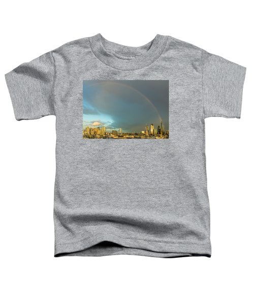 Rainbow Over The City Of London Toddler T-Shirt