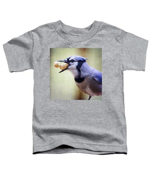 Rainy Day Blue Jay Toddler T-Shirt