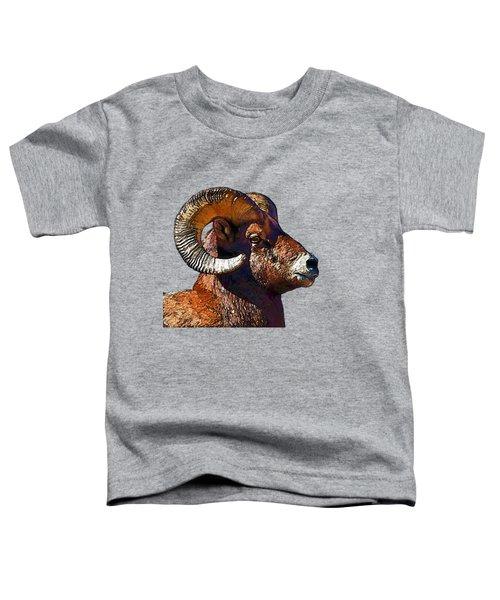 Ram Portrait - Rocky Mountain Bighorn Sheep  Toddler T-Shirt