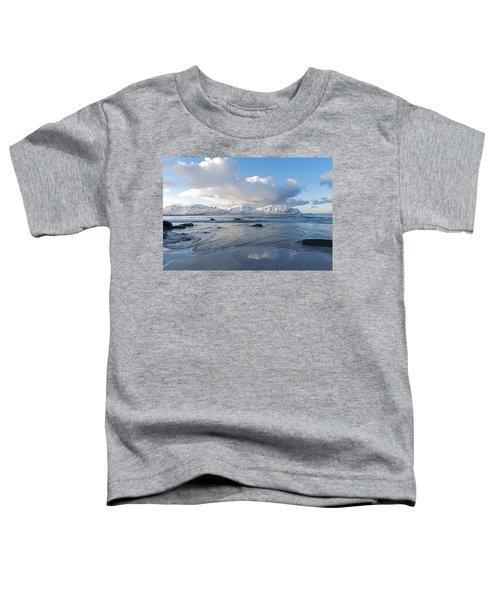 Ramberg Beach, Lofoten Nordland Toddler T-Shirt by Dubi Roman