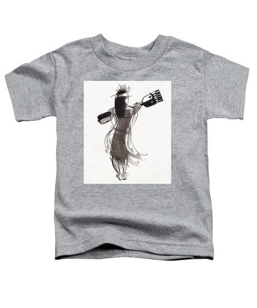 Toddler T-Shirt featuring the painting Rapa Nui Dancer by Judith Kunzle