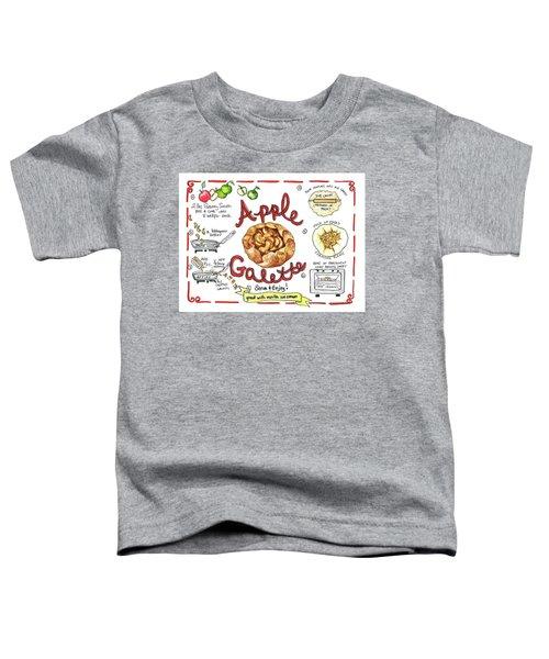Recipe- Apple Galette Toddler T-Shirt