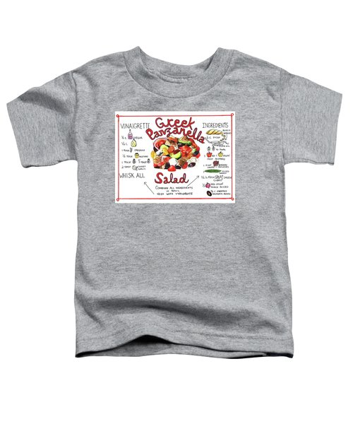Recipe- Panzanella Salad Toddler T-Shirt