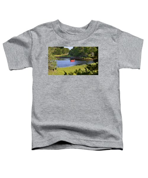 Red Boat On The Herring River Toddler T-Shirt
