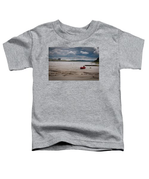Red Boat On The Mud Toddler T-Shirt