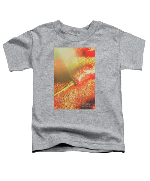 Red Cayenne Pepper In Spicy Seasoning Toddler T-Shirt
