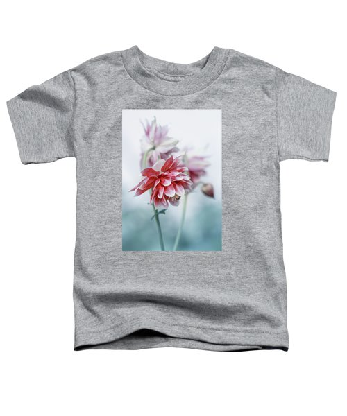 Toddler T-Shirt featuring the photograph Red Columbines by Jaroslaw Blaminsky