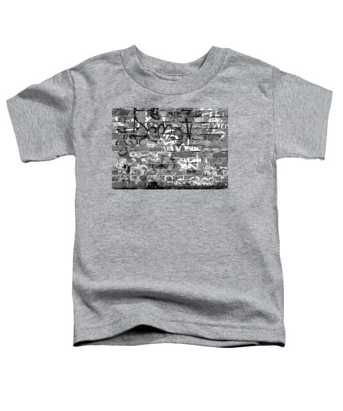 Red Construction Brick Wall And Spray Can Art Signatures Toddler T-Shirt