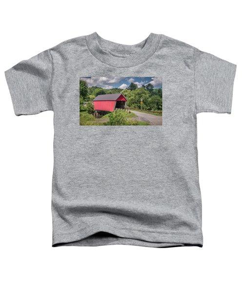 Red Covered Bridge Toddler T-Shirt