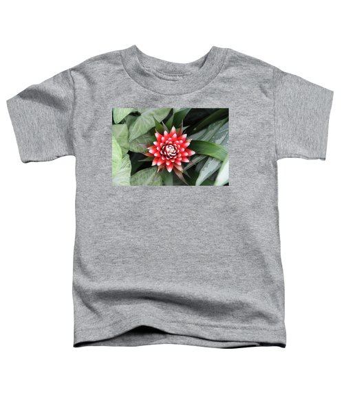 Red Flower With White Tips Toddler T-Shirt
