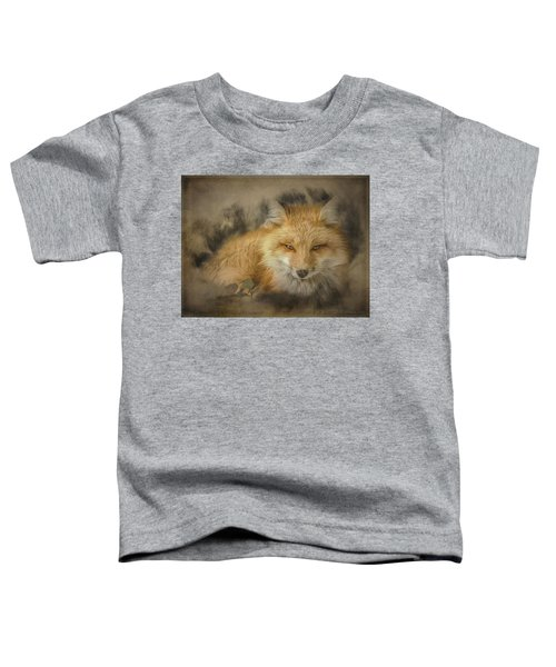 Red Fox Resting Toddler T-Shirt