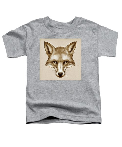 Red Fox Sketch Toddler T-Shirt