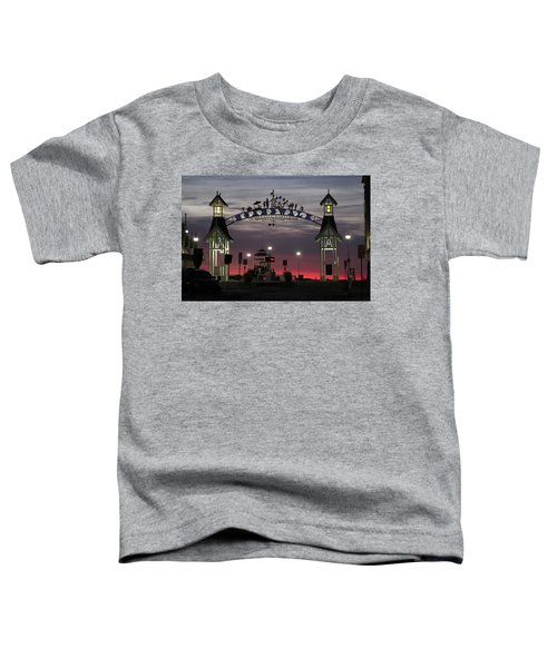 Red Horizon Thru The Boardwalk Arch Toddler T-Shirt