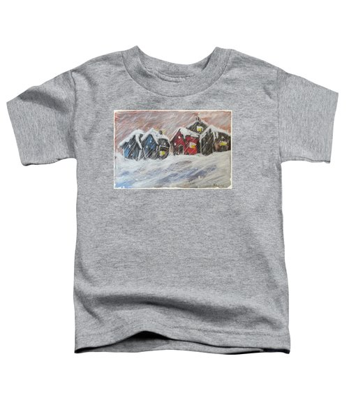 Red House In The Snow Toddler T-Shirt