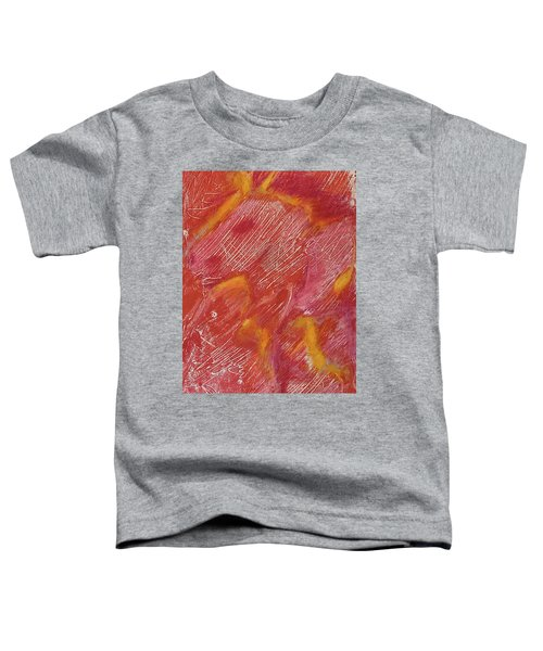 Red Monoprint One Toddler T-Shirt