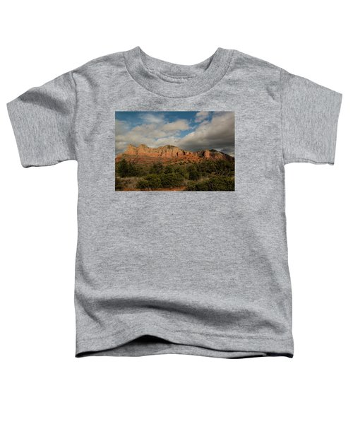 Red Rock Country Sedona Arizona 3 Toddler T-Shirt by David Haskett