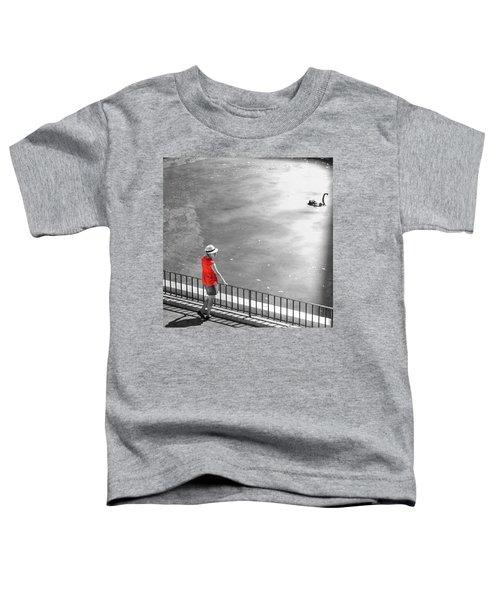 Red Shirt, Black Swanla Seu, Palma De Toddler T-Shirt