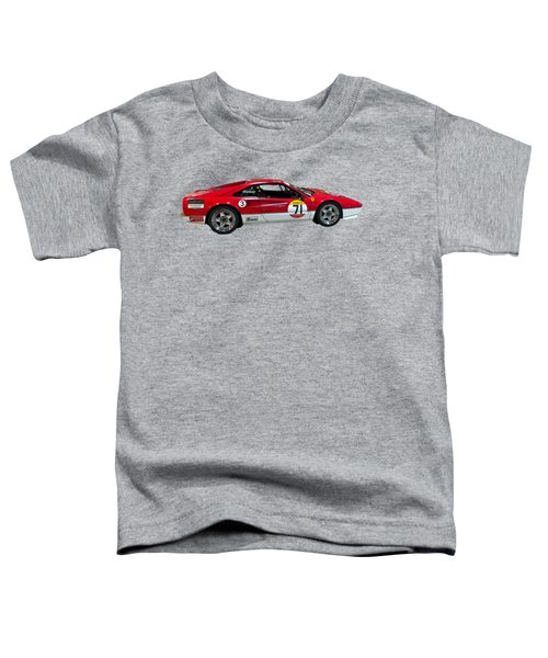 Red Sports Racer Art Toddler T-Shirt