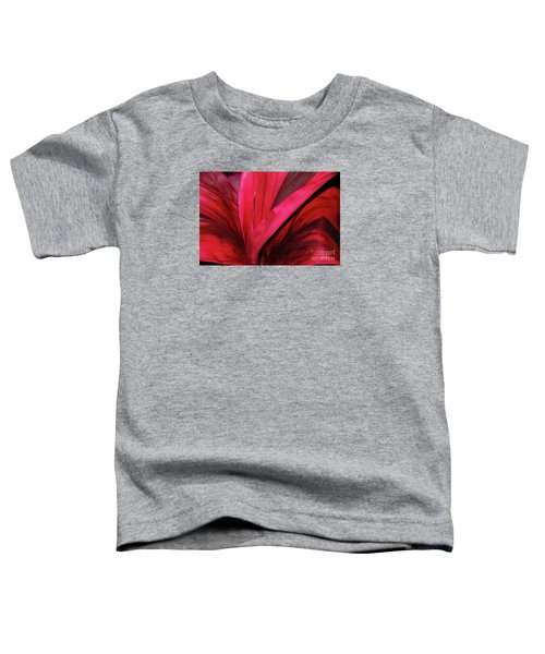 Red Ti Leaf Plant - Hawaii Toddler T-Shirt
