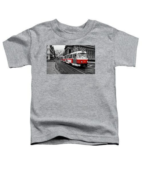 Prague - Red Tram Toddler T-Shirt