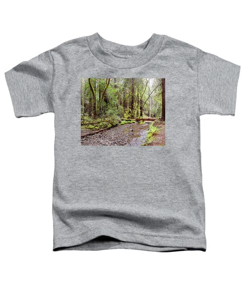 Redwood Creek Flowing Through Muir Woods National Monument - Mill Valley Marin County California Toddler T-Shirt