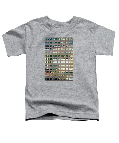 Reflections In Windows Of Office Building Toddler T-Shirt
