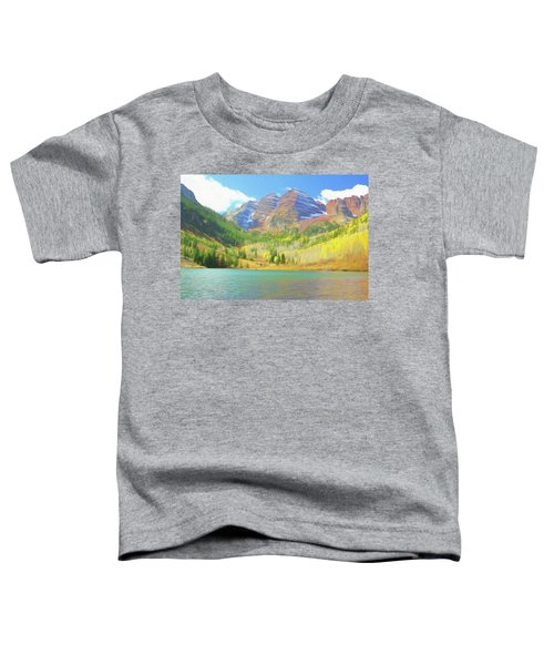 The Maroon Bells Reimagined 1 Toddler T-Shirt