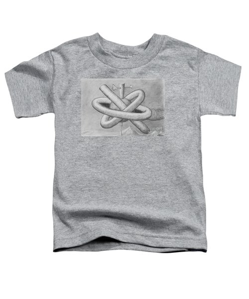 Toddler T-Shirt featuring the drawing Religion Of Science by Yulia Kazansky