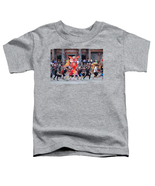 Religious Martial Arts Performance In Taiwan Toddler T-Shirt