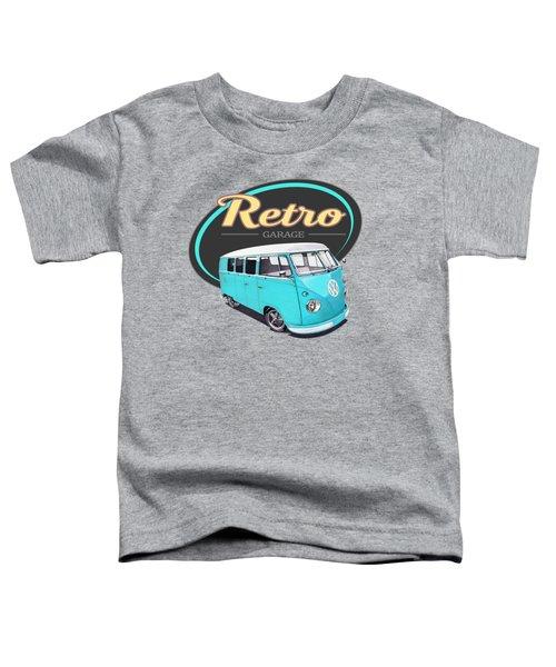 Retro Garage Bus Toddler T-Shirt