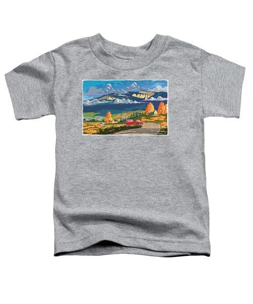 Retro Travel Autumn Landscape Toddler T-Shirt