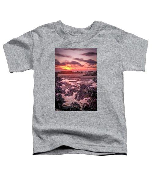 Rhosneigr Beach At Sunset Toddler T-Shirt