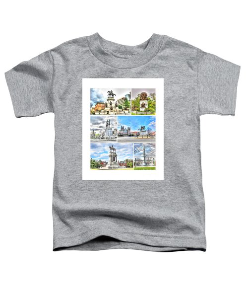 Richmond Va Virginia - Monuments Collage Toddler T-Shirt