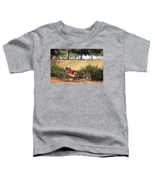 Rickshaw Rider Relaxing Toddler T-Shirt