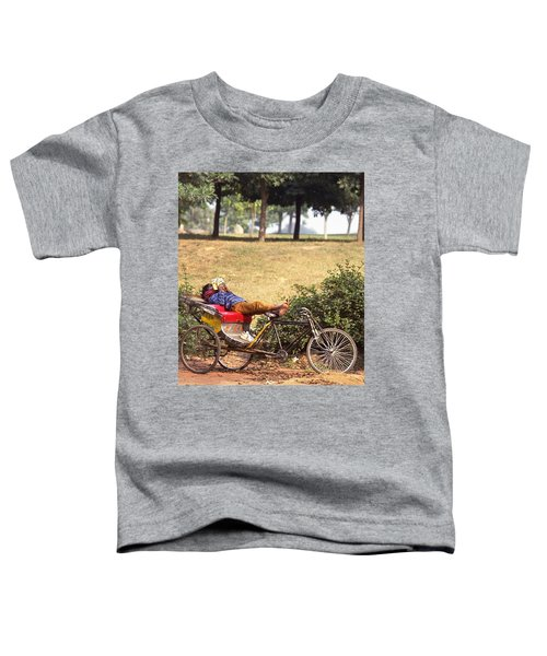 Rickshaw Rider Relaxing Toddler T-Shirt