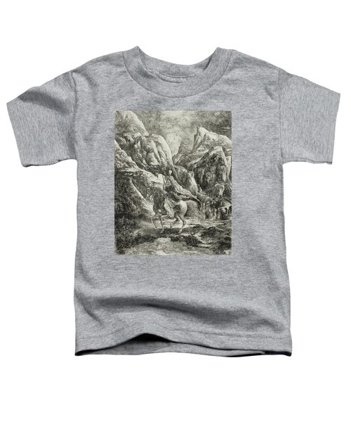 Rider In The Mountains Toddler T-Shirt